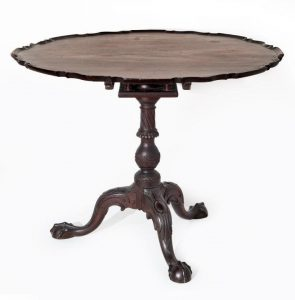 The Potter-Crouch-Jordan Family Chippendale Tea Table
