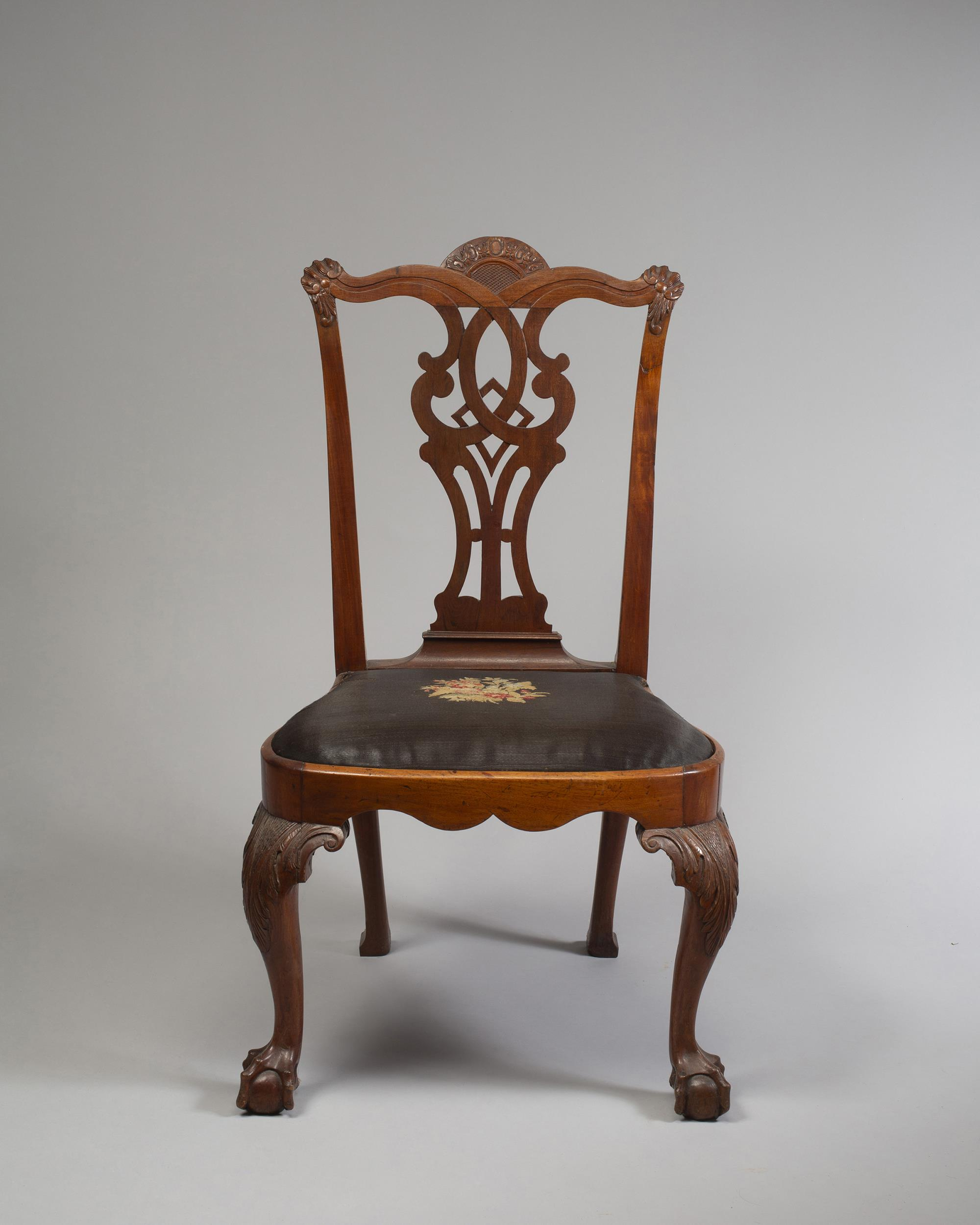 Sir William Johnson's Queen Anne Mahogany Side Chair