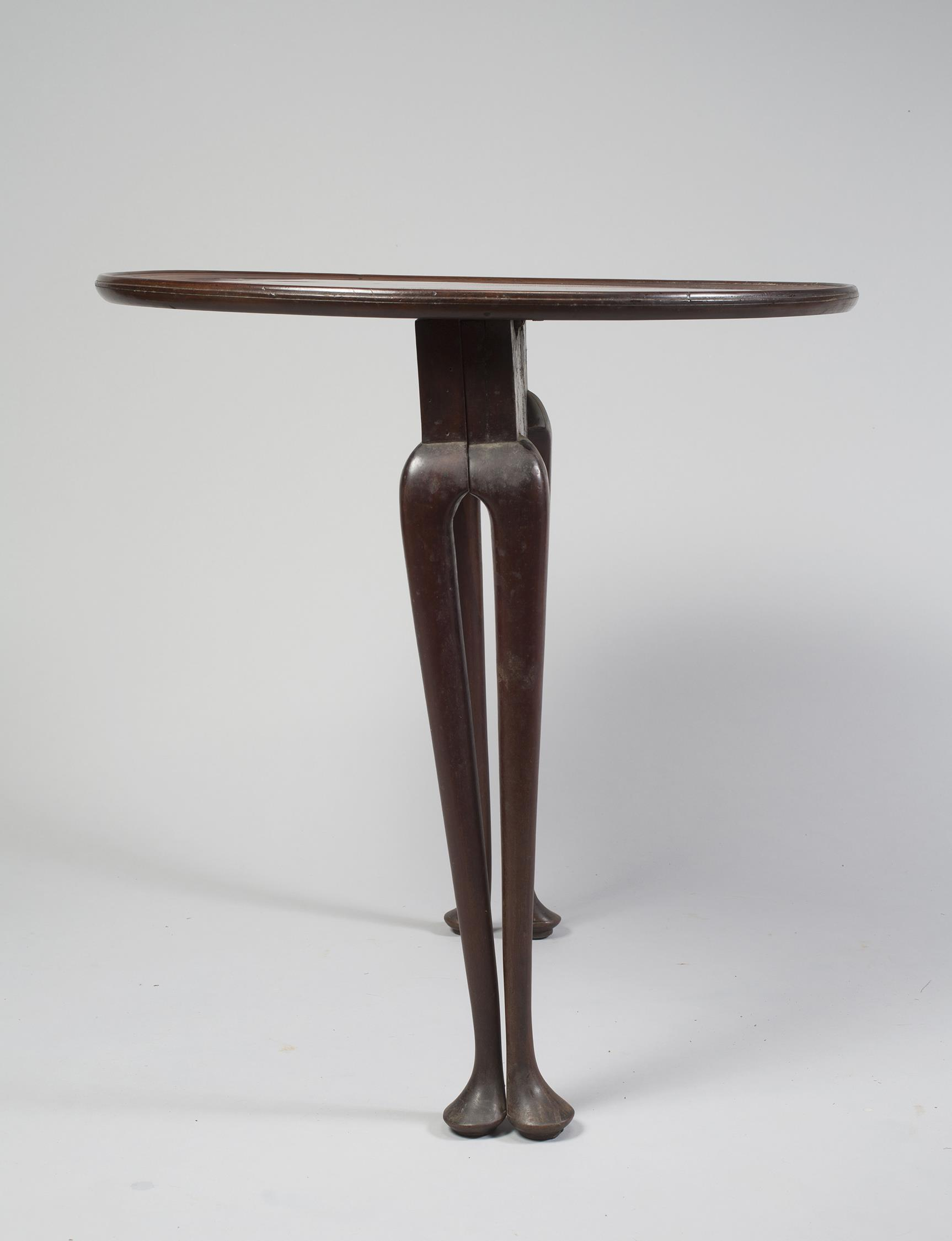 Rare Queen Anne Mahogany Tuckaway Tea Table - Legs Folded